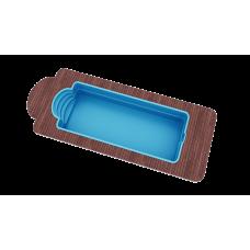 Бассейн Голубая лагуна 8,0х3,2х1,5