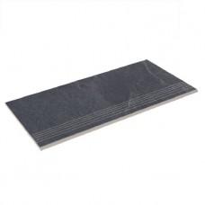 Бортовая плитка прямая Aquaviva Ardesia Black 595x289x20 мм