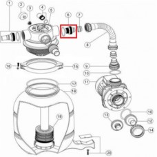 Адаптер Emaux для FSP с уплотнительным кольцом (89030204)