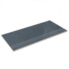 Бортовая плитка прямая Aquaviva Montagna Black, 595x289x20 мм
