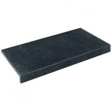 Бортовая плитка Aquaviva Granito Black, Г-образная, 595x345x50(20)