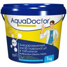 Дезинфектант 3 в 1 на основе хлора AquaDoctor MC-T 1 кг. (таблетки по 200 гр)