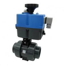 Кран шаровый EFFAST d32 мм (BDREBK1YA032V) с электроприводом PTFE/FPM